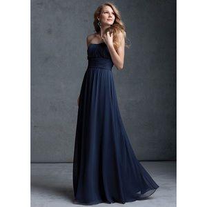 Mori Lee Bridesmaid Dress 674 Gray size 8